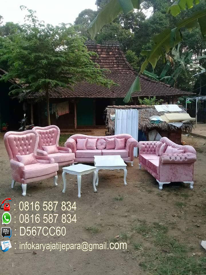 Kursi Sofa Putih Cat Duco